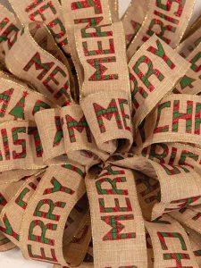 Christmas Burlap Plaid