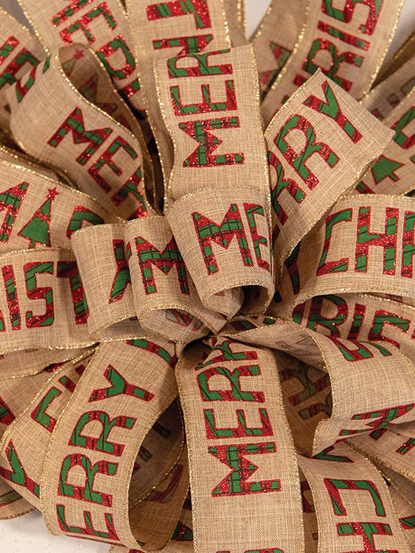 Christmas Burlap Plaid