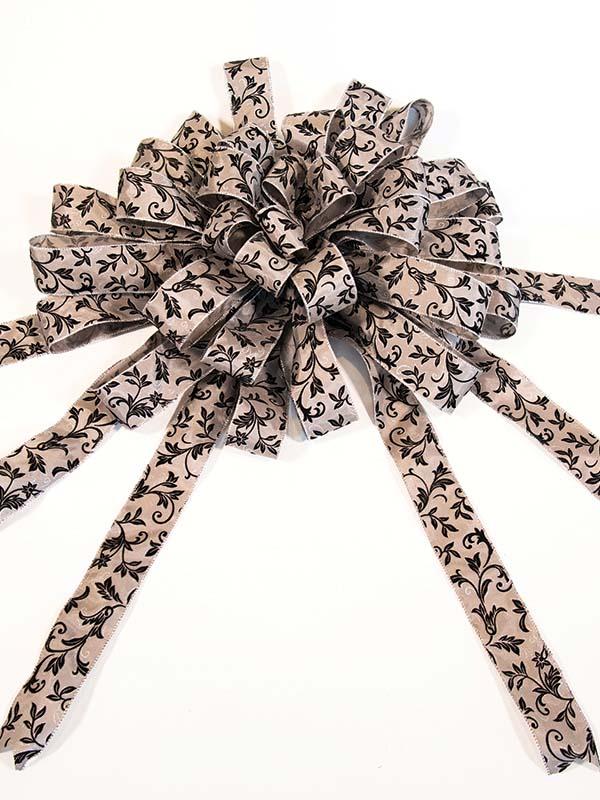 Black & Silver Elegance Car Bow