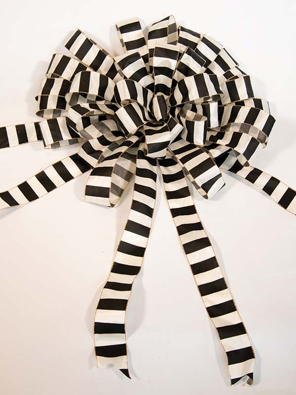 Black & White Striped Bow