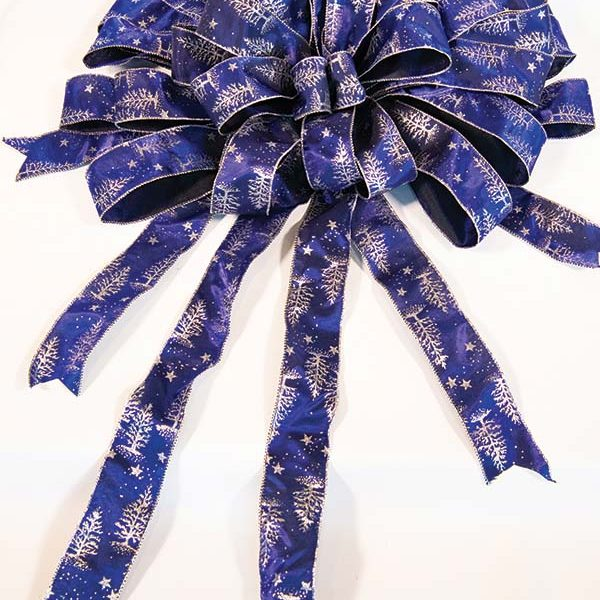Blue & Silver Bow