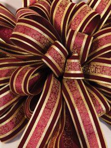 Burgundy & Gold Bow