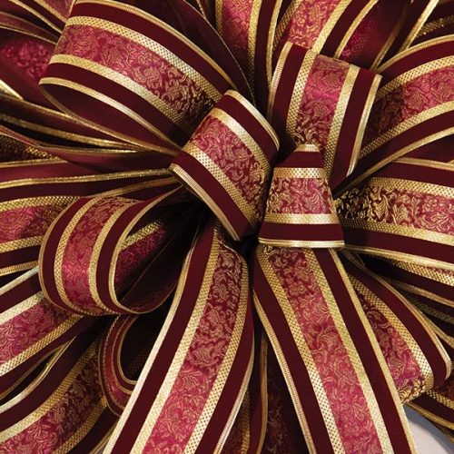 Burgundy & Gold Bow
