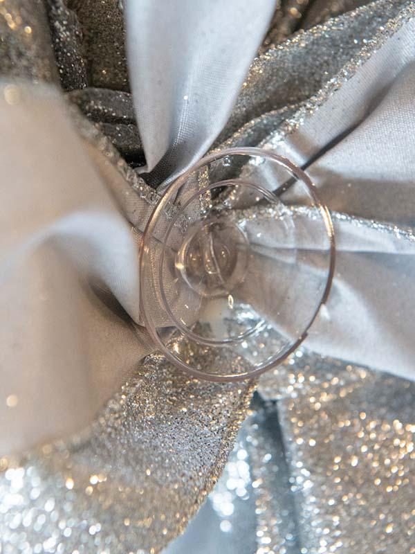 Glitter Silver Bow