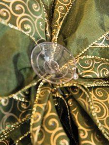 Green Gold Swirl Bow