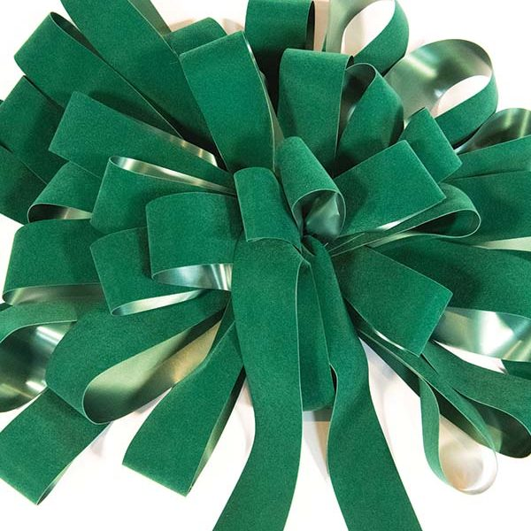 Hunter Green Velvet Bow