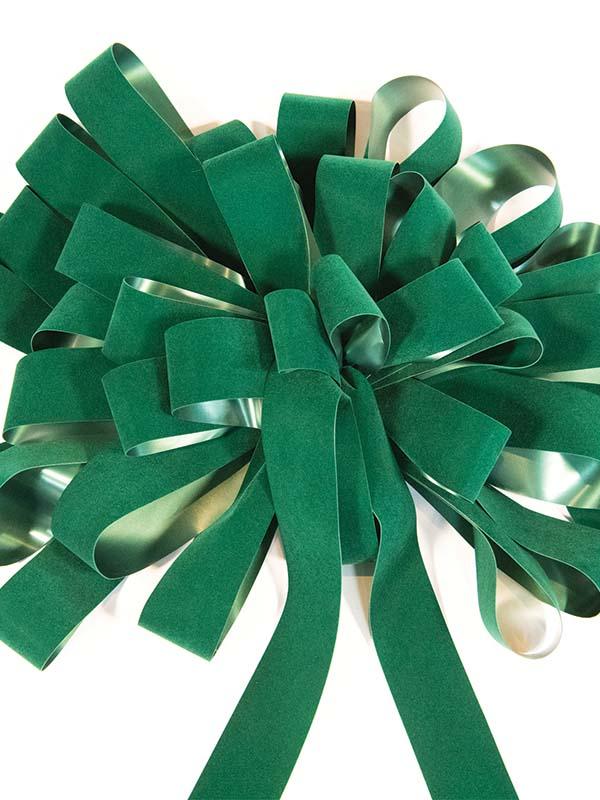 Hunter Green Velvet Bow