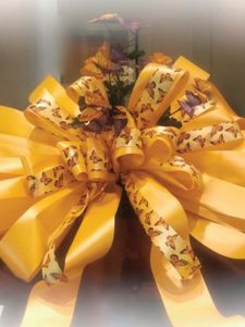 Mothers day orange bow with butterfly