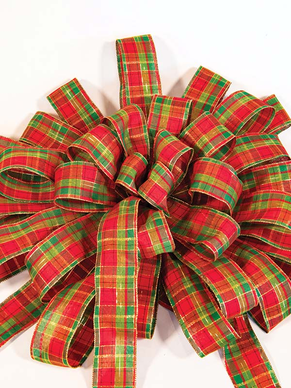 Red & Green Plaid Bow