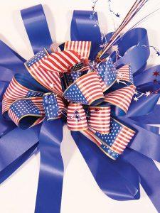 Blue Patriotic Bow