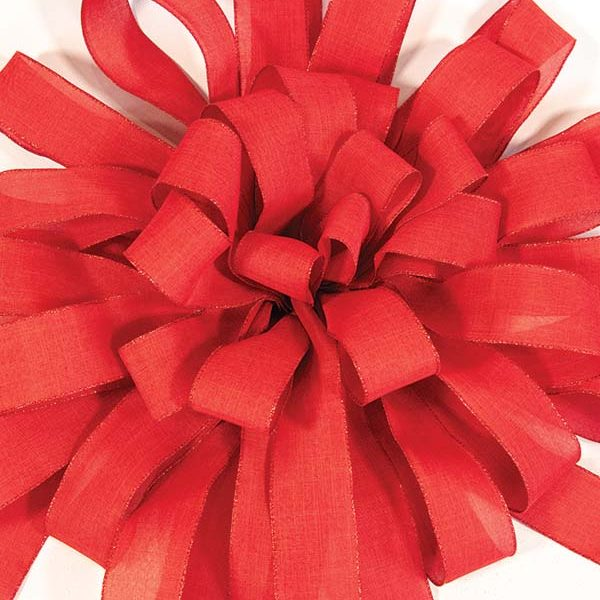 Red Burlap Bow